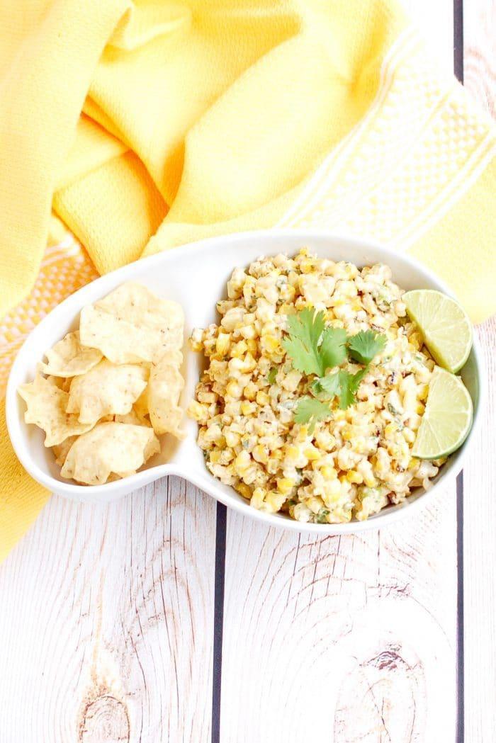 Overhead Esquites Mexican Street Corn Salad