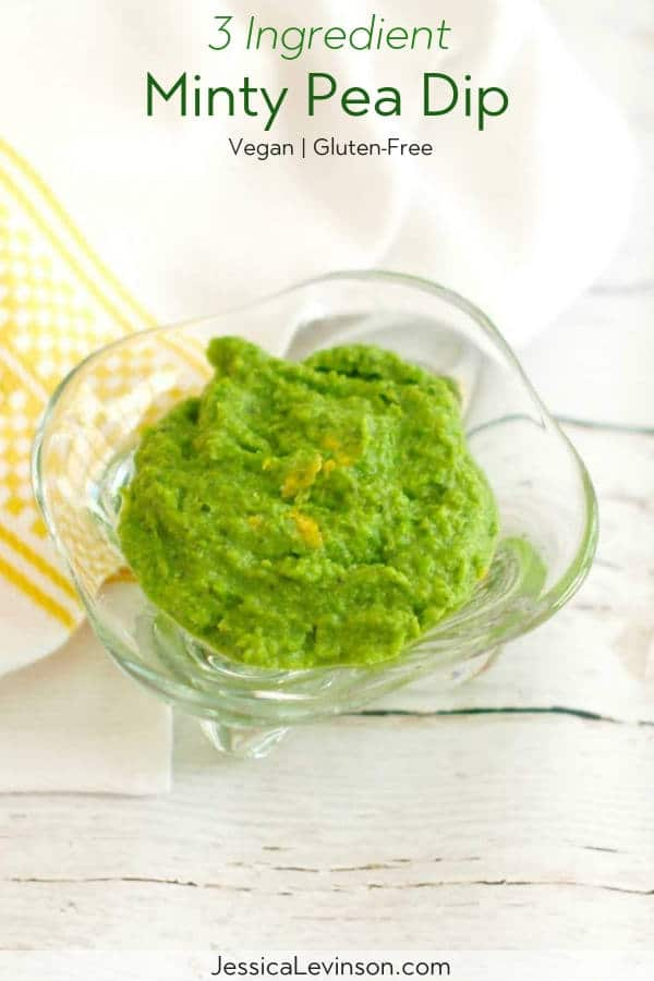 Minty Pea Dip Recipe with Text Overlay