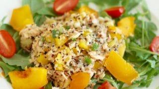 Salmon Peach Quinoa Salad