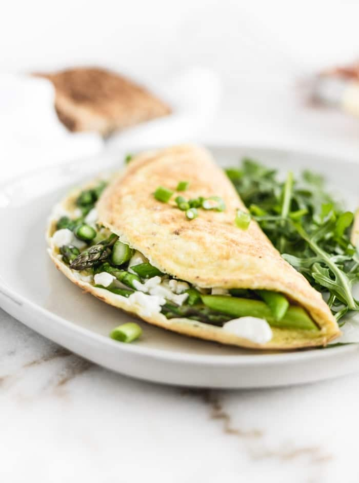 Back to School Breakfast - Asparagus Goat Cheese Omelette from Lively Table