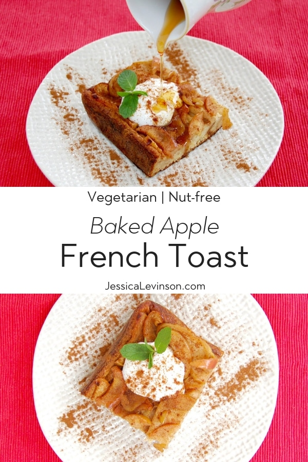 Baked Apple French Toast Collage with Text Overlay
