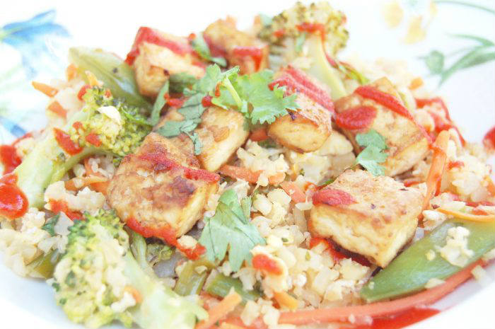 Cauliflower Fried Rice Close-Up