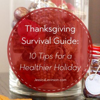Keep this Thanksgiving survival guide by your side with 10 tips to help you have a healthier Thanksgiving and start to the holiday season. #Thanksgiving #healthyeating #healthyholidays #healthythanksgiving #holidaysurvival