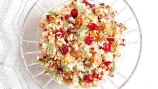 Roasted Butternut Squash and Cranberry Quinoa Salad with Cider Dijon Vinaigrette