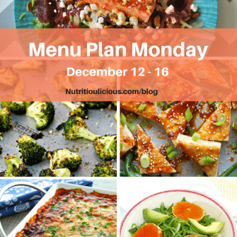 Menu Plan Monday: December 12, 2016 | Nutritioulicious