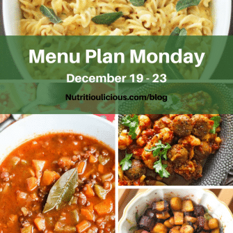 Small Bites by Jessica Menu Plan Monday week of December 19, 2016 including Lightened-Up Macaroni and Cheese and Miso-Roasted Root Vegetables @jlevinsonrd, Greek Lentil Soup @jeanetteshealth, and Kofta Stew with Cauliflower @bbcgoodfood.