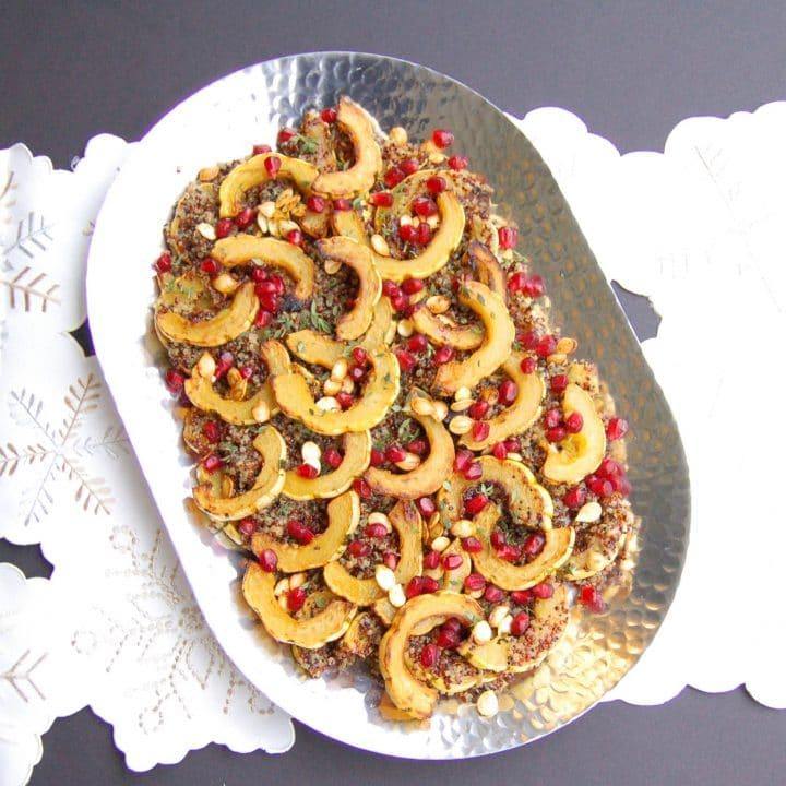 Maple-Roasted Delicata Squash Quinoa Salad