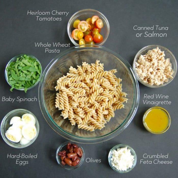 tuna nicoise pasta salad ingredients