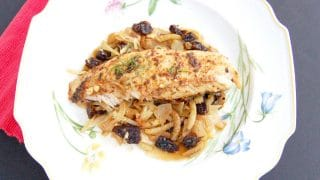 Baked Tilapia with Fennel & Dried Plums