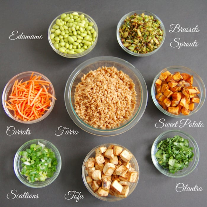 ingredients in Farro Buddha Bowl