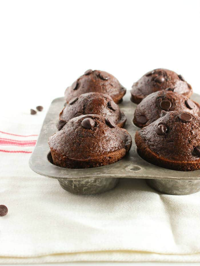 Double Chocolate Muffins in Muffin Pan