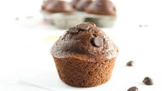 Whole Grain Double Chocolate Muffins