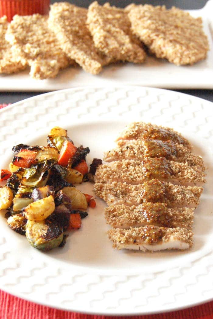 Panko Crusted Chicken on Plate