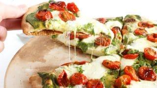 Rosemary-Roasted Tomato Pesto Pizza
