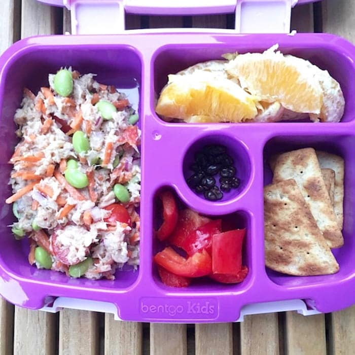 Easy Tuna Edamame Salad in Bento Lunchbox