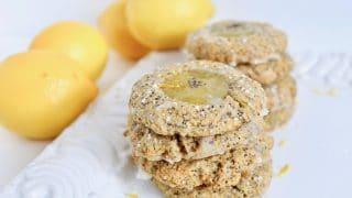 Lemon Poppy Seed Thumbprint Cookies