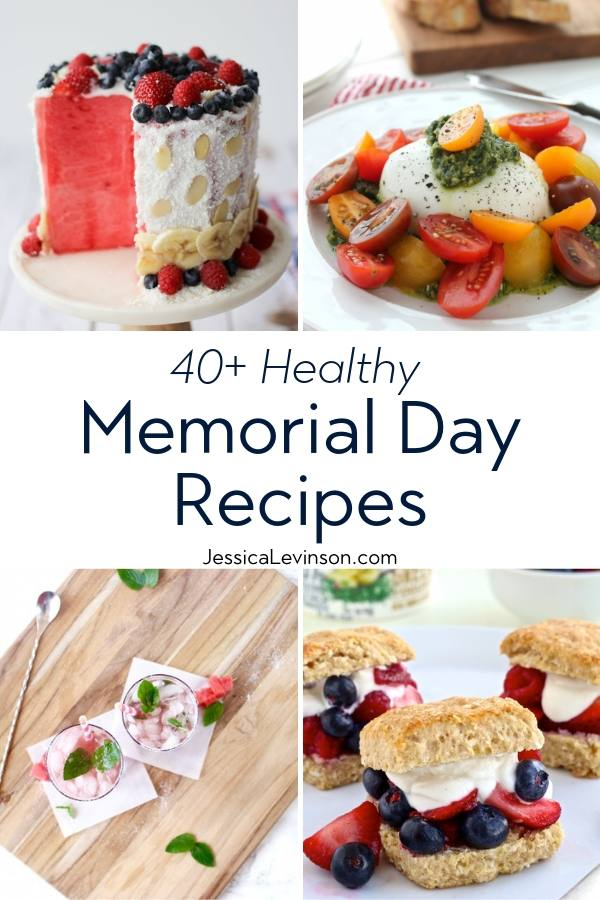 Healthy Memorial Day Recipes Collage with Text