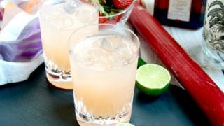 Spicy Strawberry Rhubarb Margaritas