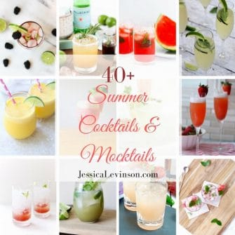 collage of summer cocktails and mocktails