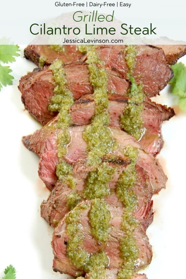Grilled Cilantro Lime Steak with Text Overlay