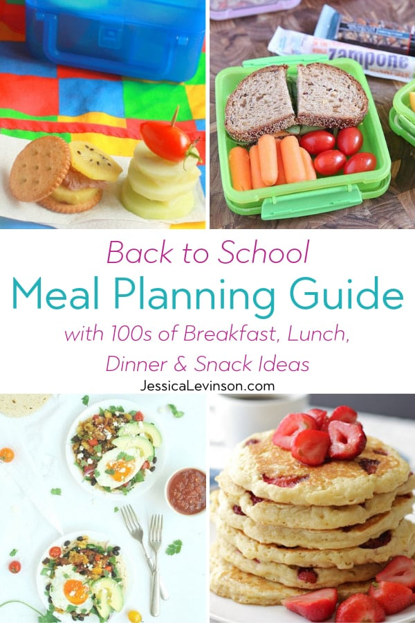 back to school meal planning guide collage with text overlay
