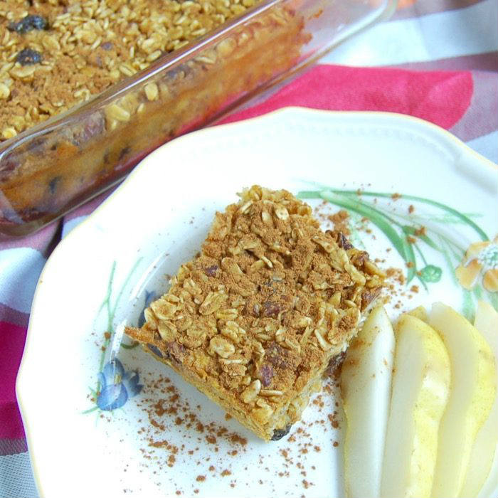 Pumpkin Spice Baked Oatmeal Recipe Overhead