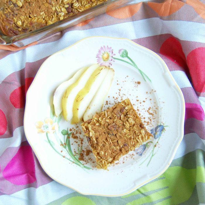 Pumpkin Spice Baked Oatmeal Recipe on Plate