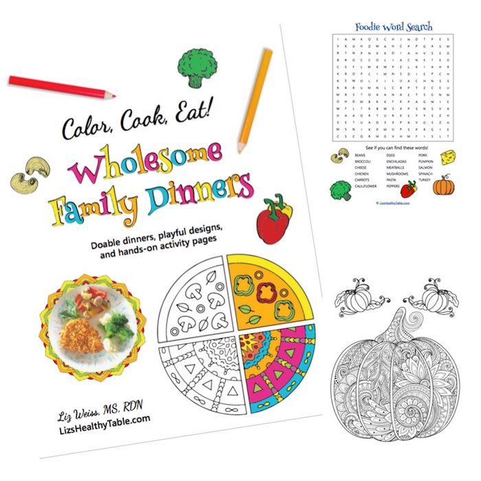 The Color, Cook, Eat! Coloring Book bundle is a healthy holiday gift idea for feeding a family.