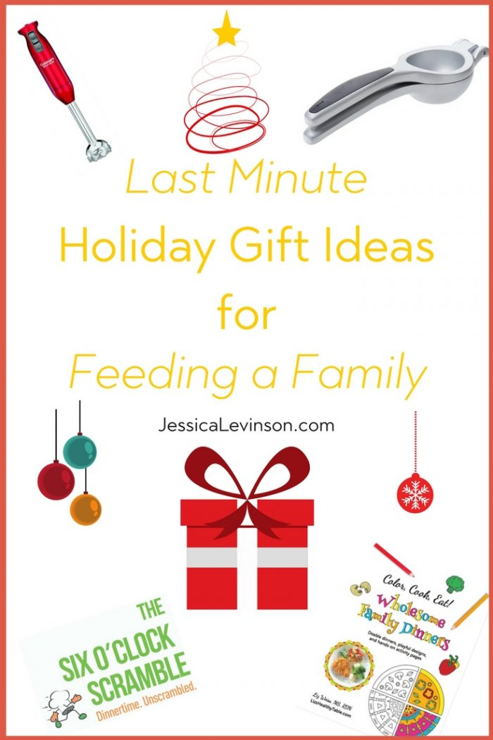 Need a last minute holiday gift? Check out some of my favorite holiday gift ideas for feeding a family!