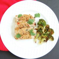 A twist on classic meatloaf, this Asian-styleturkey meatloaf is loaded with vegetables, herbs and spices, and topped with a sweet and spicy glaze.