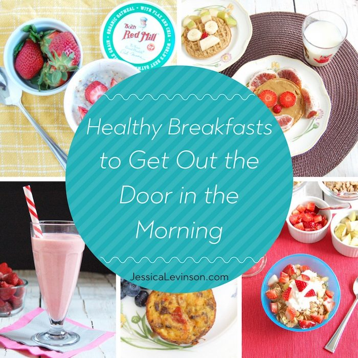 Instead of skipping breakfast, give your kids one of these healthy breakfasts to get out the door on rushed mornings - no recipes needed!
