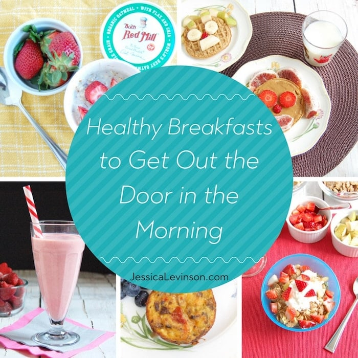 healthy breakfasts to get out the door collage