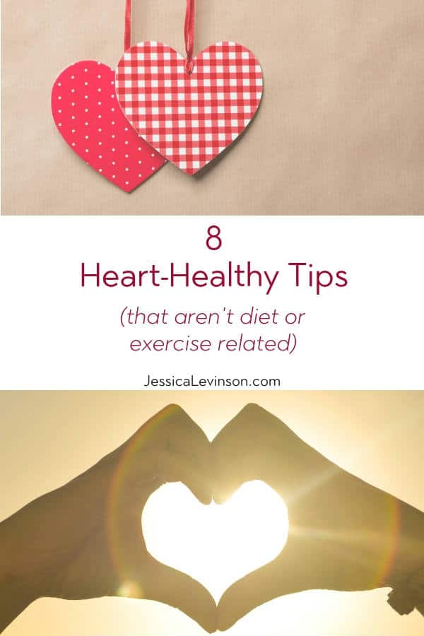 Heart Healthy Tips with Text Overlay