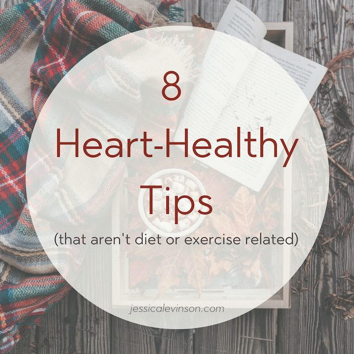 Heart Healthy Tips Text Image
