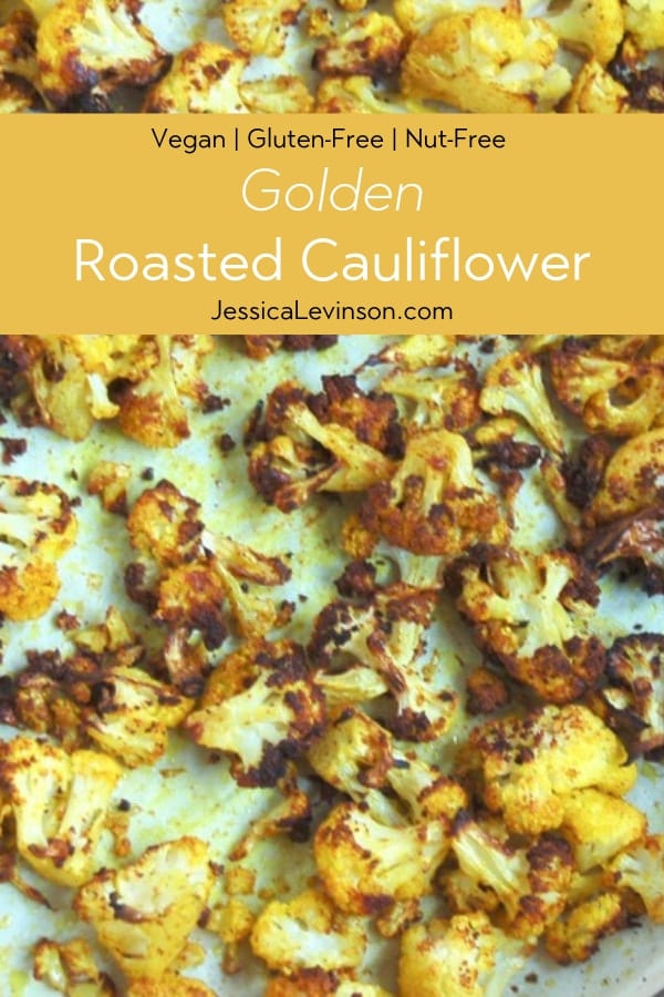 Golden Roasted Cauliflower on sheet pan