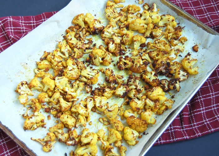 Golden Roasted Cauliflower is a flavor-boosting recipe with turmeric, garlic powder, and garam masala