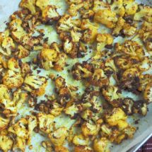 Golden Roasted Cauliflower is a simple side dish that is healthy, delicious, and brightens up any table. Vegan and gluten-free.
