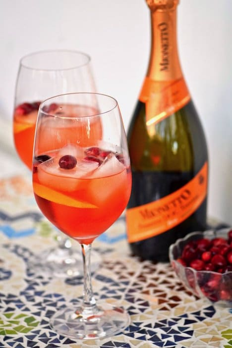 Sparkling Cranberry Aperol Spritz @ Tasting Page