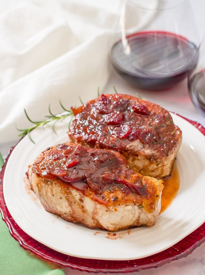 Cranberry Balsamic Pork Chops @ Family Food on the Table
