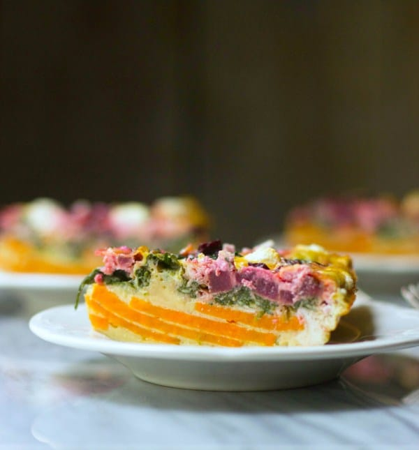 Beet & Goat Cheese Sweet Potato Quiche @ The Gourmet RD