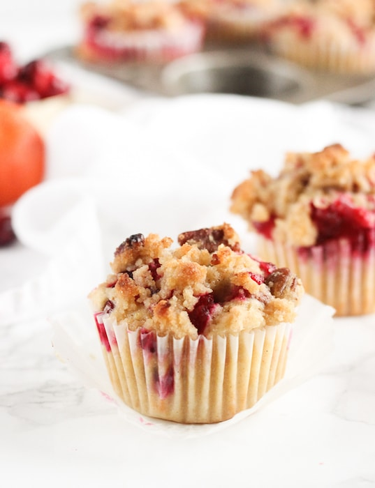Cranberry Orange Pecan Streusel Muffins @ Lively Table