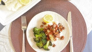 Oven Baked Cod with Rustic Sun Dried Tomato Olive Tapenade
