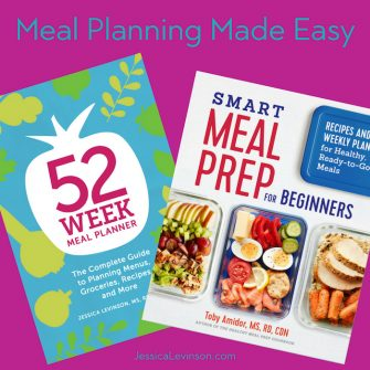 Make meal planning easy with the 52-Week Meal Planner workbook and Smart Meal Prep for Beginners