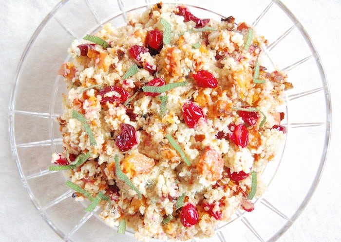butternut squash and cranberry quinoa salad is a perfect side dish for your thanksgiving and christmas table