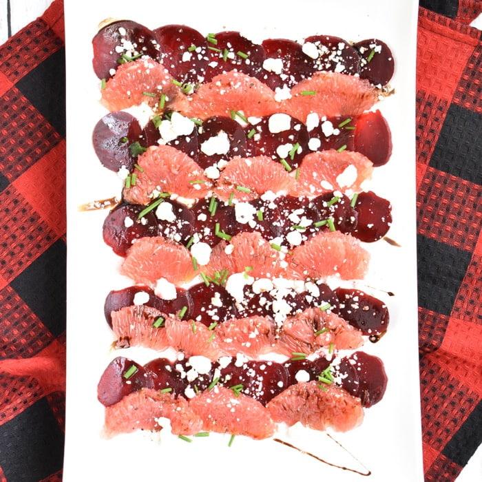 Beet & Grapefruit Carpaccio platter