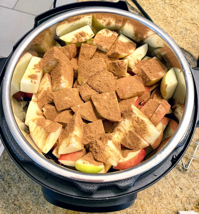 apples and cinnamon in Instant Pot
