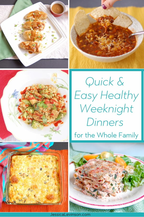 easy healthy weeknight dinners recipe roundup