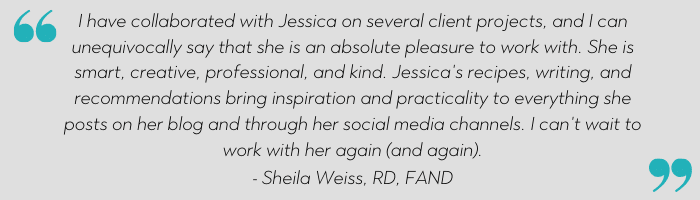 jessica levinson nutrition communications testimonial