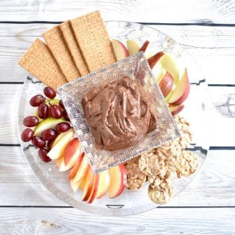chocolate peanut dessert hummus platter