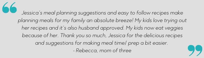 meal planning testimonial